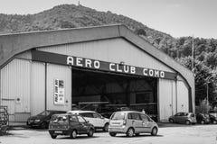Hangar des Aero Vereins Lizenzfreies Stockbild
