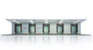 Free Hangar Exterior On The White Background. Stock Image - 178439081