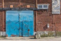 Hangar för gammal port Royaltyfri Fotografi