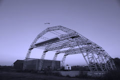 Hangar für Flächen Stockfotografie
