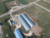 Hangar galwanizujący metali prześcieradła dla magazynu produkty rolni Zdjęcia Stock