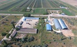 Hangar galwanizujący metali prześcieradła dla magazynu produkty rolni Obrazy Stock