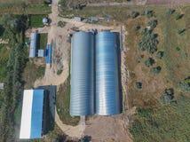 Hangar galwanizujący metali prześcieradła dla magazynu produkty rolni Zdjęcia Royalty Free