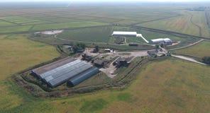 Hangar galwanizujący metali prześcieradła dla magazynu produkty rolni Zdjęcie Stock