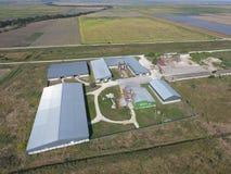 Hangar galwanizujący metali prześcieradła dla magazynu rolniczy pr Fotografia Royalty Free