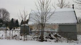 Hangar hivernal Photo stock