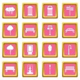 Hangar icons pink Royalty Free Stock Photo