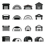 Hangar icons set Stock Photo