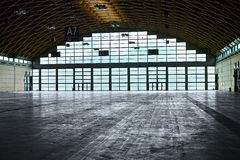 Hangar interior Stock Image