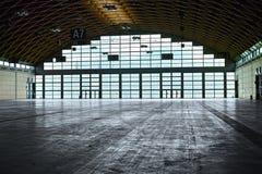 Hangar interior stock image