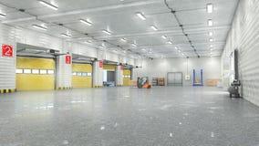 Hangar interior con las puertas fotos de archivo libres de regalías