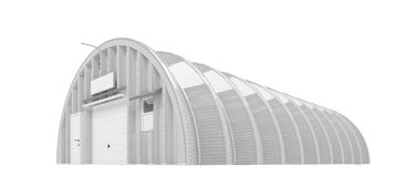 Hangar over white Royalty Free Stock Images