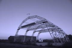 Hangar para los aviones Fotografía de archivo