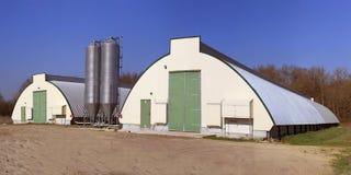 Hangar pour la ferme avicole Photos libres de droits