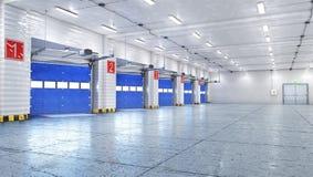 Hangar som är inre med portar arkivbilder