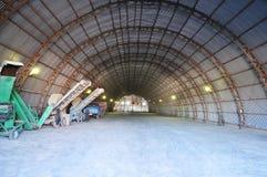 Hangar. Storehouse for grain. Stock Photography