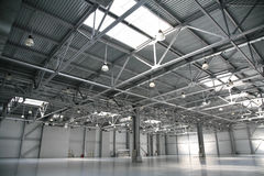 Hangar warehouse Royalty Free Stock Images