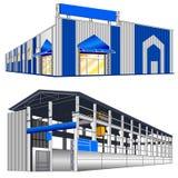 Hangar warehouse Stock Photography