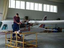 Hangar worker Stock Photography