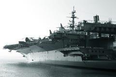 hangarfartyg reagan Arkivbild