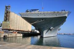 hangarfartygport Arkivfoton