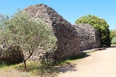Hangars de pierres sèches en Bories Village, Gordes, France Images stock