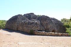 Hangars de pierres sèches, Français Bories Village, Gordes Image libre de droits