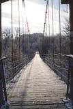 Hangbrug in de Russische provincie royalty-vrije stock foto's