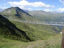 Hangbrug, Stubnerkogel, Slechte Gastein, Oostenrijk Stock Foto's