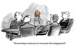 Hangdog собака плоха для морального духа бесплатная иллюстрация