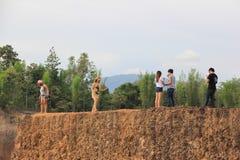 Hangdong jaru chiangmai Resevoir od starego podkopowego laterytu zdjęcie royalty free