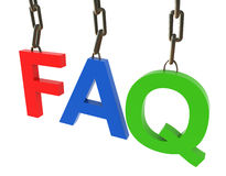Hanged colorful faq text Stock Photos