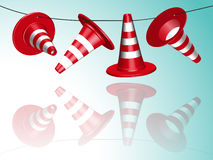 Hanged cones Stock Image