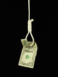 Hanged Dollar Royalty Free Stock Image