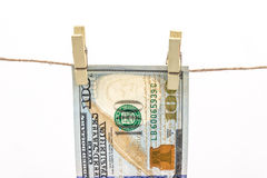Hanged dollar Royalty Free Stock Photo