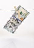 Hanged dollar Stock Photos