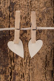 Hanged hearts Royalty Free Stock Image