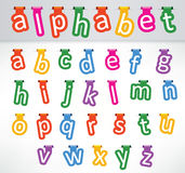 Hanged letters Stock Image