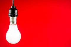 Hanged light bulb Royalty Free Stock Image