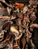 Hanged meats Royalty Free Stock Images