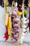 Hanged onions Royalty Free Stock Photography
