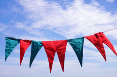Hanged Pennants Royalty Free Stock Image