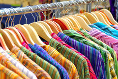 Hanged Shirts Royalty Free Stock Photo