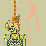 Hanged skeleton Royalty Free Stock Images