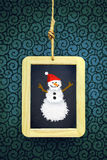 Hanged Xmas Slate Royalty Free Stock Images