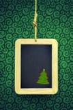 Hanged Xmas Slate Stock Photo