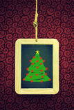 Hanged Xmas Slate Royalty Free Stock Photo