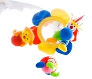 Hangend babystuk speelgoed royalty-vrije stock afbeeldingen