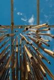 Hangend Bamboeriet, Blauwe Hemel op achtergrond Royalty-vrije Stock Foto