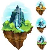 Hangend groen eiland vector illustratie